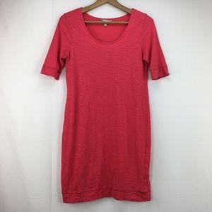 Banana Republic Red Scoop Neck T-Shirt Dress Small